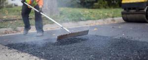 Работы по ремонту и устройству дорожного покрытия